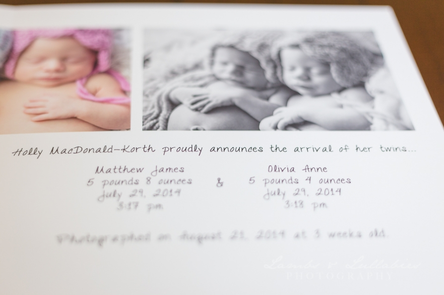 fort lauderdale newborn album design